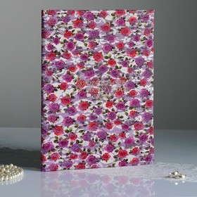 """Папка для свидетельства о браке """"Роза в серебре"""" 210 x 297 мм"""