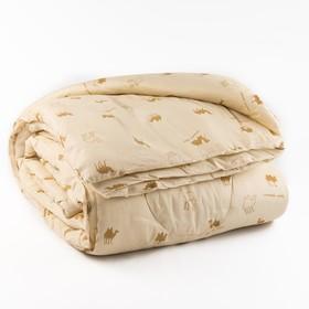 Одеяло Верблюжья шерсть 220x205 см, полиэфирное волокно 200 гр/м, пэ 100%