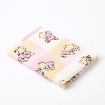 "Diaper Baby I ""Bear with ball"" 40×60 cm, flannel, 160g/m2, 100% cotton"
