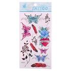 """Татуировка на тело """"Бабочки"""", цветная"""