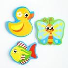 Набор игрушек для ванны из EVA «На пруду», мини-коврик, 3 шт. - фото 105536517