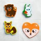 Набор игрушек для ванны из EVA «Лесные друзья», мини-коврик, 3 шт. - фото 105535794