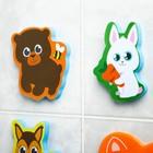 Набор игрушек для ванны из EVA «Лесные друзья», мини-коврик, 3 шт. - фото 105535795