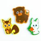 Набор игрушек для ванны из EVA «Лесные друзья», мини-коврик, 3 шт. - фото 105535797