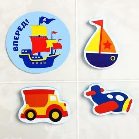 "A set of EVA toy for bath 3pcs + mini Mat ""Transport"""