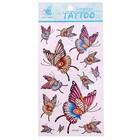 """Татуировка на тело """"Бабочки"""", цветная, в упаковке 6 шт"""