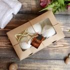 """Набор """"Добропаровъ"""" из 3 бурлящих шариков (кедр, мята, сосна), с наполнителем, в коробке"""