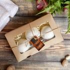 """Набор """"Добропаровъ"""" из 3 бурлящих шариков (ваниль, мята, сосна), с наполнителем, в коробке"""