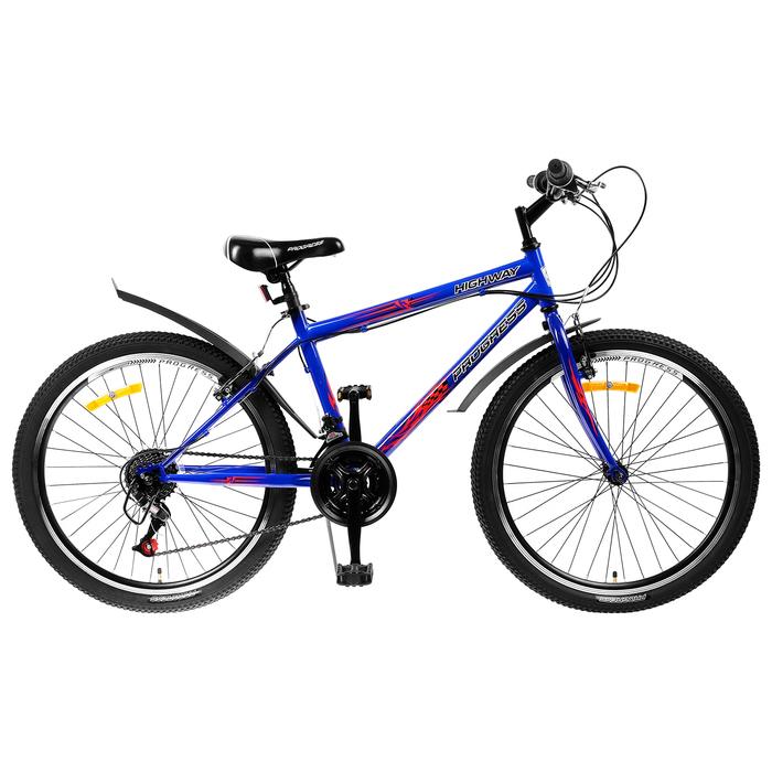 """Велосипед 24"""" Progress модель Highway RUS, 2019, цвет синий, размер 15"""""""