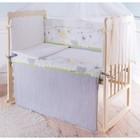 """Бортики в кроватку """"Мой зоопарк"""", цвет зелёный, бязь, хл100%"""