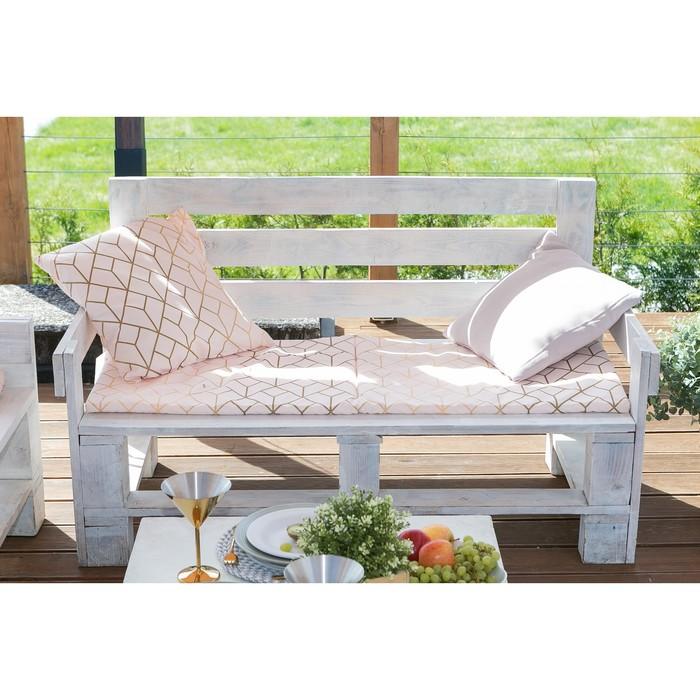 Подушка на двухместную скамейку «Этель» Сетка, 45×120 см, репс с пропиткой ВМГО, 100% хлопок