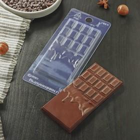 """Форма для шоколада 7×15×1 см """"Шоколад горячий"""""""