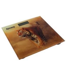 """Весы напольные """"ЯРОМИР"""" ЯР-4201, электронные, до 180 кг, картинка """"Тигр"""""""