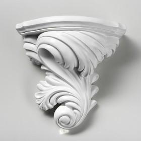 """Кашпо """"Лист"""", белый цвет, 13 см × 24 см × 23 см"""