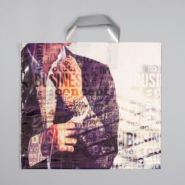 """Пакет """"Мужской характер"""", полиэтиленовый с петлевой ручкой, 38 х 35 см, 85 мкм - фото 156261283"""