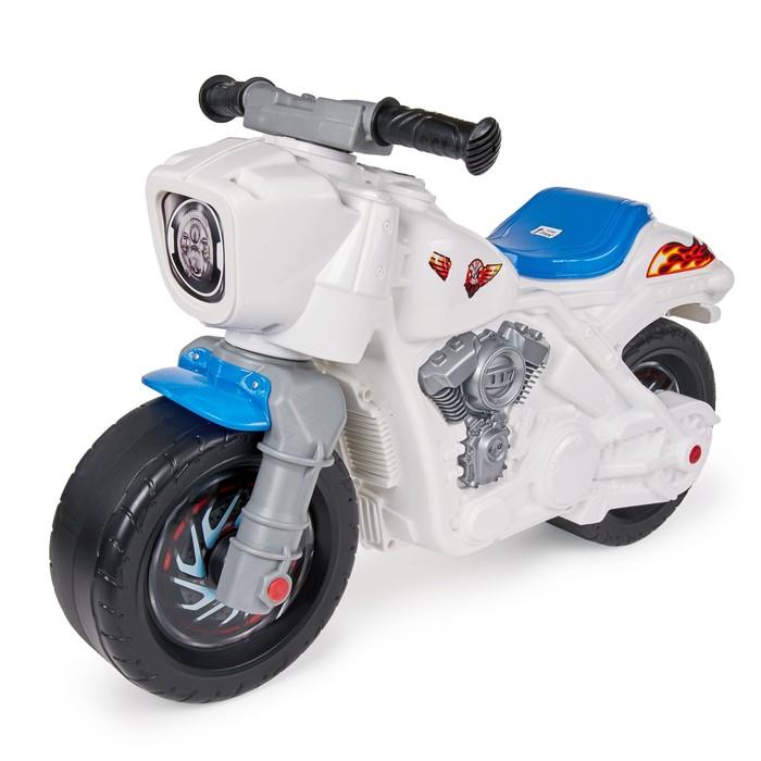 Толокар-мотобайк, белый