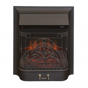 "Электроочаг Majestic Lux Black, 20"",1500 Вт, 2 режима обогрева, звук потрескивания дров"