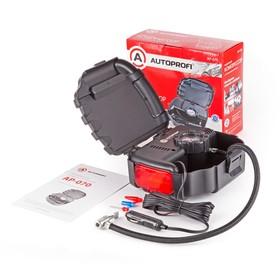 Компрессор автомобильный Autoprofi, 7 Атм, 12 л./мин, шланг 0.5 м, сигнальный фонарь,