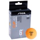 Мяч для настольного тенниса Stiga Cup ABS, пластик, 6 шт., цвет оранжевый