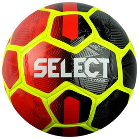 Мяч футбольный SELECT Classic, размер 5, PVC, машинная сшивка, цвет красный/жёлтый/чёрный