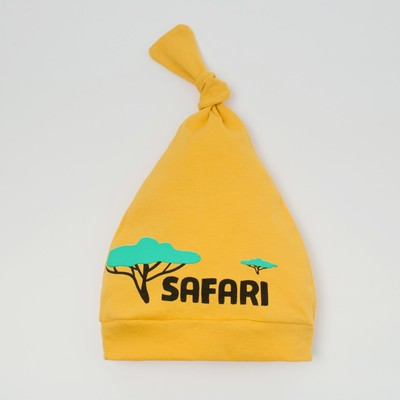 "Чепчик(шапочка) Крошка Я ""Safari"", жёлтый, р.40"