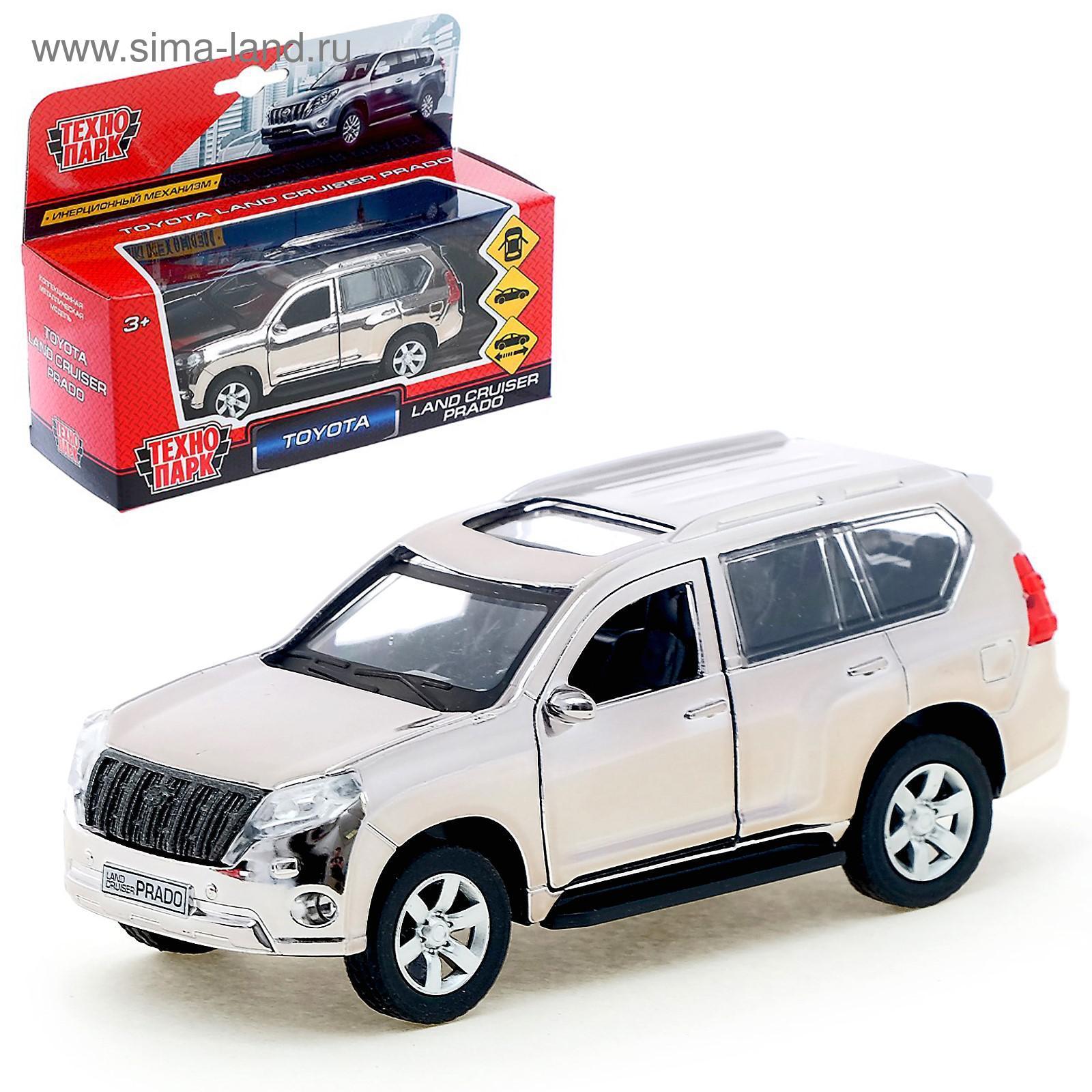 7c1572813336 Машина металлическая инерционная Toyota Prado, хром серебристый, 12 ...