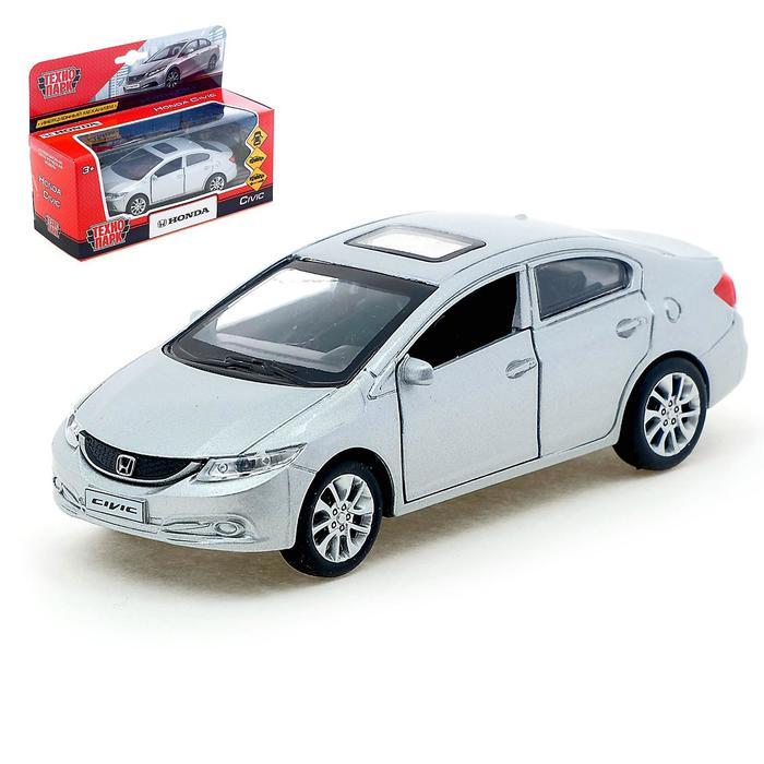 Машина металлическая инерционная Honda Civic, цвет серебристый, 12 см