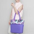 Сумка летняя, отдел на молнии, цвет фиолетовый