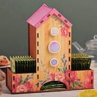 """Чайный домик с декором """"Цветы"""""""