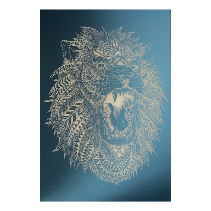 Зеркало декоративное «Лев», с лазерной гравировкой, 21×30 см