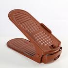 Подставка для хранения обуви регулируемая, 30×10,5×8 см, цвет МИКС