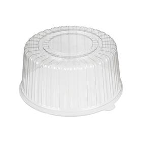 Крышка к контейнеру «Т-235 К (GN1914) Эконом», круглая, цвет прозрачный, размер 26,5 х 26,5 х 12,6 см, объём 1,5 л