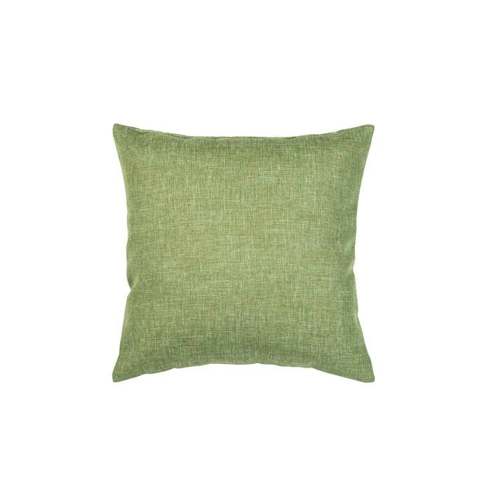 Подушка декоративная, размер 40 × 40 см, рогожка, цвет оливковый - фото 7929553