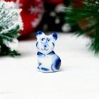 Сувенир «Мышка Кроха», 4 см, гжель