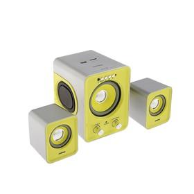 Компьютерные колонки 2.1 Smartbuy BUZZ SBA-2610, 2х1 Вт+3 Вт, MP3, FM, ПДУ, USB,сереб-желтые