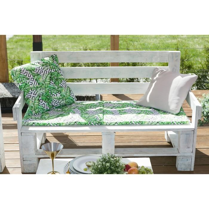 Подушка на двухместную скамейку «Этель» Геометрия, 45×120 см, репс с пропиткой ВМГО, 100% хлопо