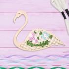 Вышивка крестиком и лентами на дереве «Лебедь». Набор для творчества