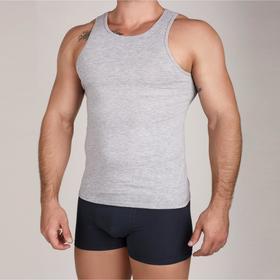 Майка мужская, цвет серый меланж, размер 48