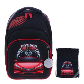 Рюкзак каркасный, Luris «Джерри 3», 38 x 28 x 20 см, наполнение: мешок для обуви, «Авто»