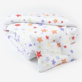 Комплект в кроватку (Одеяло детское, подушка фигурная) Млечный путь