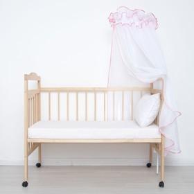 "Балдахин ""Эдельвейс"", размер 150х400 см, цвет розовый"