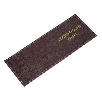 Обложка для студенческого билета У601, коричневый, флотер пулап