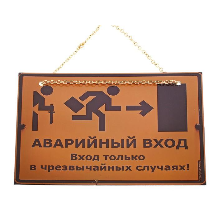 """Табличка на дверь """"Аварийный вход"""""""