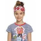Повязка на голову для девочки, размер 51-54 см, цвет красный