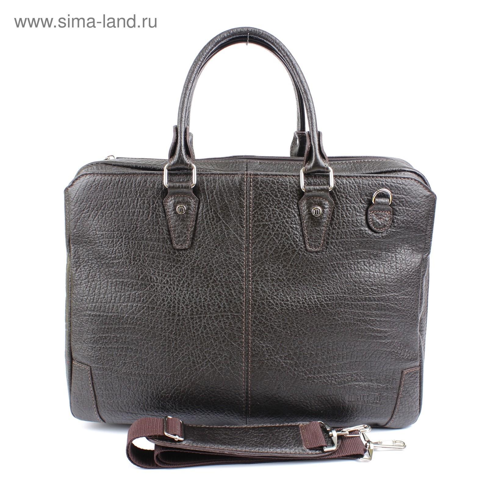 d05b6070dba8 Портфель мужской н/к 427, плечевой ремень, коричневый буфало (ва427 ...