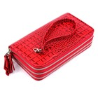 Клатч женский 22029ж-01, ремешок для руки, красный кайман