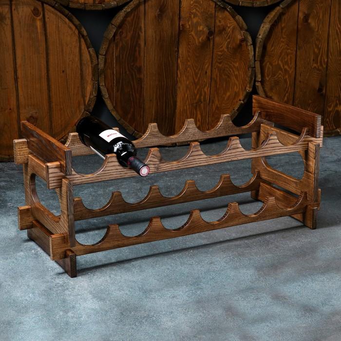 """Стеллаж винный """"Антик"""", 70 х 30 х 30 см, массив ясеня"""