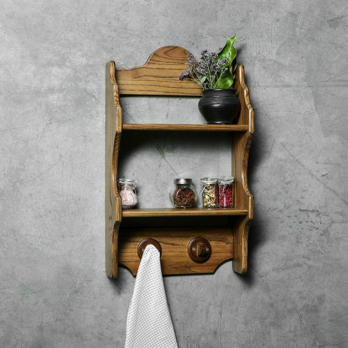 """Полка кухонная """"Антик"""", 60 х 35 х 15 см, массива ясеня"""