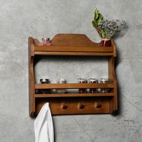 """Полка деревянная """"Винтаж"""", 45х45х10 см, массива ясеня"""