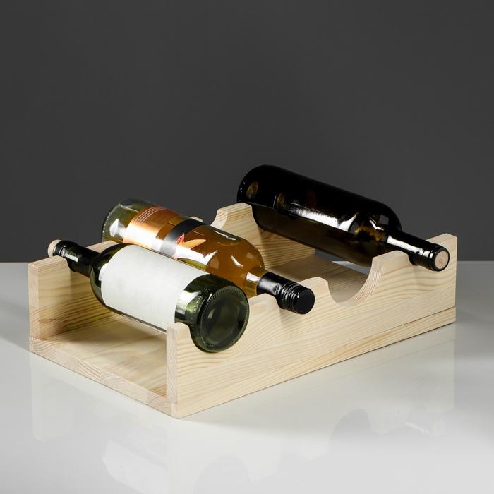 "Подставка под бутылки ""Винная""40х25х10 см"